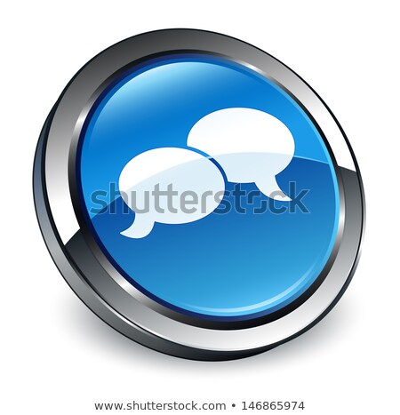 Blogging services bleu bouton 3D Photo stock © tashatuvango