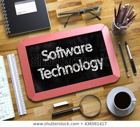 Engineering Innovation - Text on Small Chalkboard. 3D. Stock photo © tashatuvango