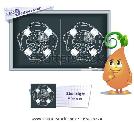 Spel vinden verschillen kinderen volwassenen taak Stockfoto © Olena