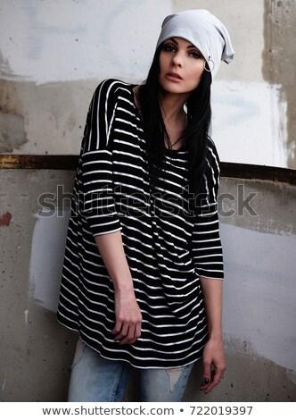 Portret mooie jonge dame modieus Stockfoto © majdansky
