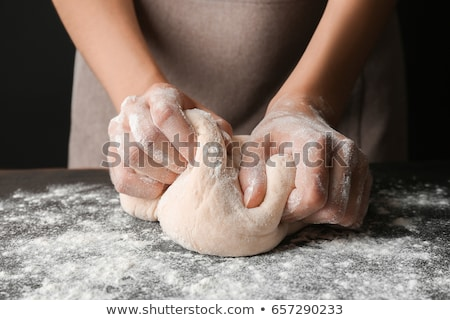 feito · à · mão · pão · isolado · branco · comida - foto stock © ssuaphoto