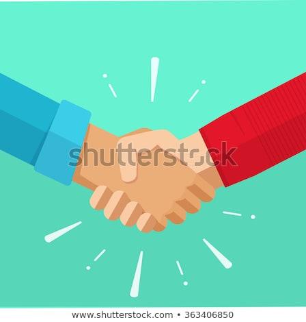 Kézfogás üzlet vektor ikon terv szín Stock fotó © rizwanali3d