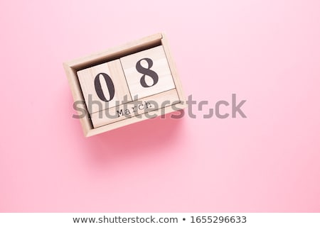 Cubes calendar 8th March Stock photo © Oakozhan