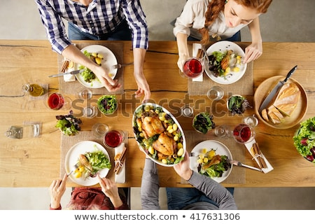 high angle view of couple stock photo © is2