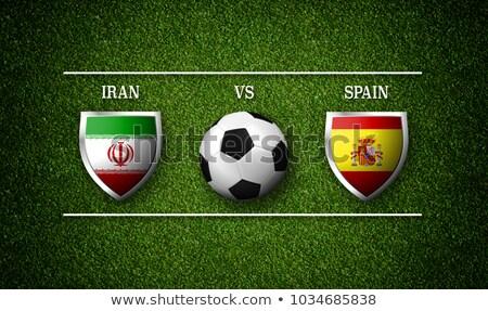 futball · futball · labda · Irán · zászló · 3D - stock fotó © zerbor