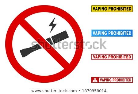 vetor · proibido · assinar · projeto · colorido · simples - foto stock © trikona