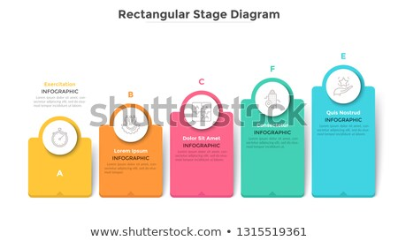 Step of ascending infographics Stock photo © bluering