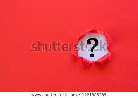 Red Question Mark on a Hand Stock photo © CsDeli