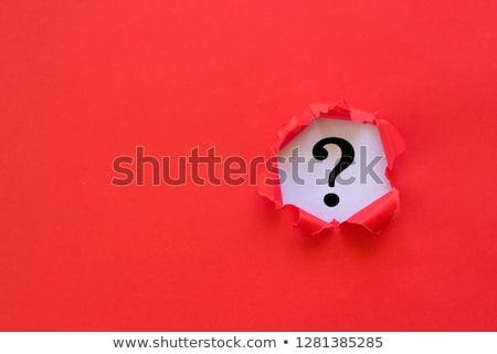 Piros kérdőjel kéz rajzolt pálma rúzs Stock fotó © CsDeli