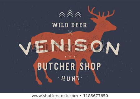 Venison, deer. Vintage logo, retro print, poster for Butchery Stock photo © FoxysGraphic