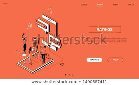 boodschapper · banner · mensen · gadgets · permanente · vergadering - stockfoto © decorwithme