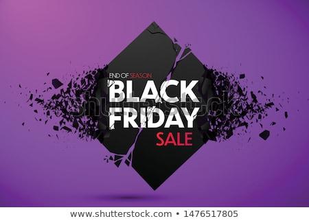 Black friday vásár szalag törés hatás absztrakt Stock fotó © SArts