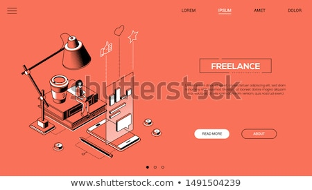 Copywriting - modern line design style web banner Stock photo © Decorwithme