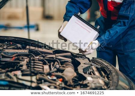 reciclável · carro · bateria · assinar · verde · isolado - foto stock © get4net