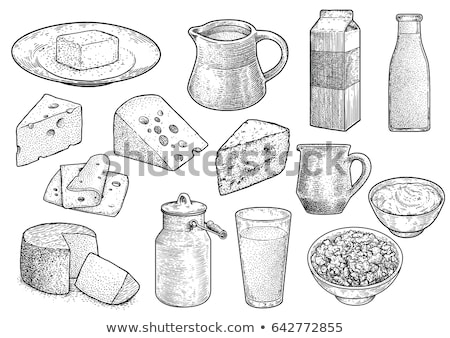 túró · zöldségek · gyógynövények · terv · háttér · saláta - stock fotó © robuart