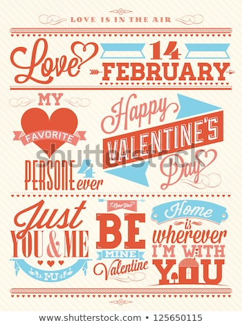 Dia dos namorados amor corações projeto modelo de design Foto stock © ivaleksa