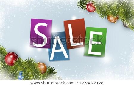 Weihnachten Verkauf Bekanntmachung Winter Urlaub Neujahr Stock foto © alexaldo