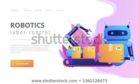 замена посадка страница робота человека Сток-фото © RAStudio