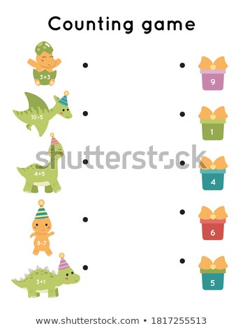 Stock photo: Math counting number dinosaur theme