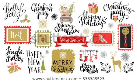 Holly Jolly, Happy Holidays, Jingle Bells, Wishes Stock photo © robuart
