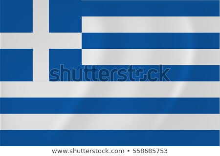 Greece waving flag icon isolated, official symbol of country, blue and white stripes, vector illustr Stock photo © MarySan