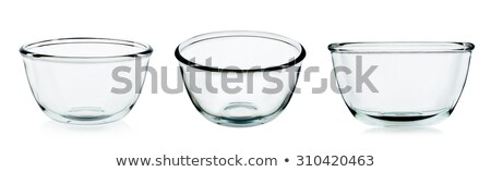 Empty Colorful Glass Bowl Collection Stock photo © make
