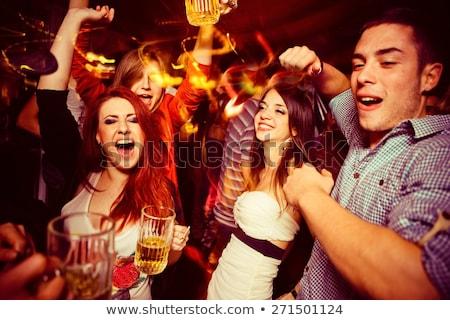 Boate boates pessoas bebidas dança juntos Foto stock © robuart