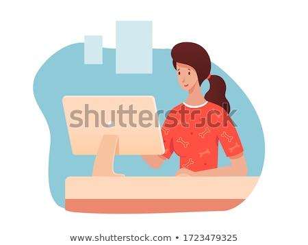 állatorvosi klinika belső recepciós nő beszél Stock fotó © robuart