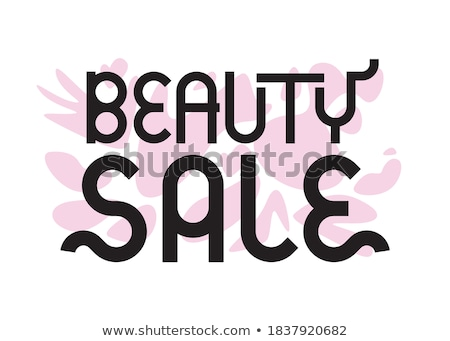 Big Beauty Sale, cosmetics banner for shopping season, makeup, accessories, equipment, beauty, facia Stock photo © ikopylov
