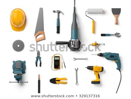 pormenor · parafuso · ferramentas · mão · tecnologia · metal - foto stock © iserg