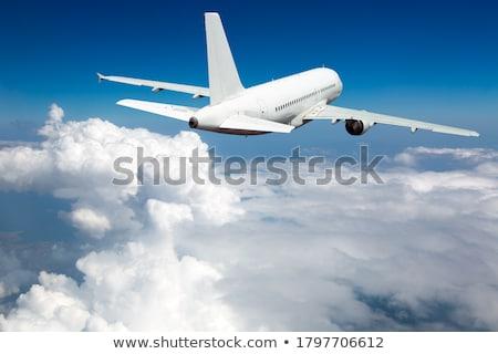 cielo · blu · panoramica · alto · cielo - foto d'archivio © artjazz