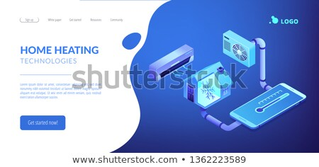 Air conditioning concept isometric 3D landing page. Stock photo © RAStudio