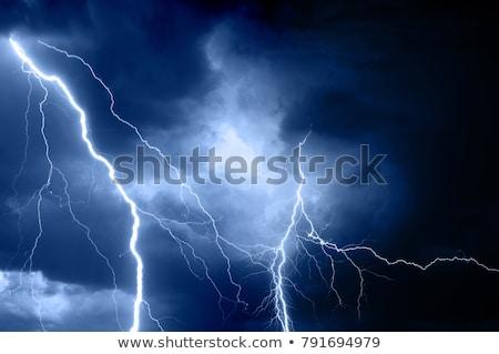 Zwaar regen onweersbui nacht illustratie hemel Stockfoto © colematt