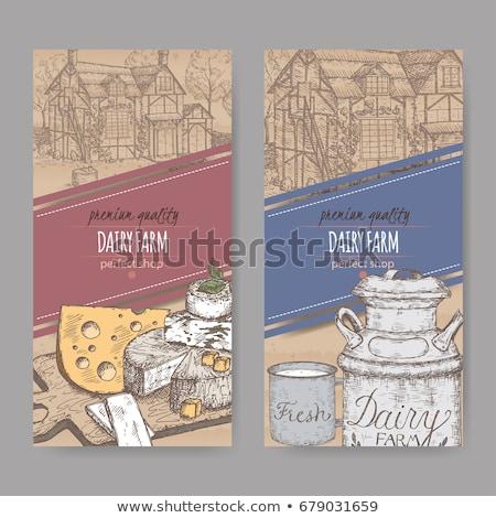 Colore vintage latte emblema eps 10 Foto d'archivio © netkov1