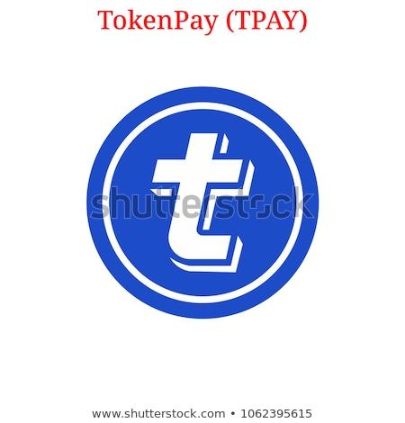 TPAY - Tokenpay. The Icon of Money or Market Emblem. Stok fotoğraf © tashatuvango