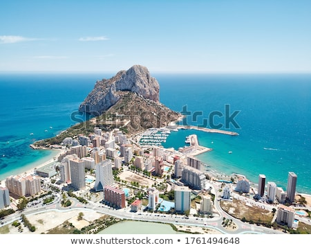 Calpe cityscape panoramic aerial view, Spain Stock photo © amok