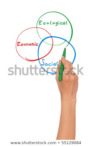 Ecology concept with green felt tip pen Stock photo © ivelin