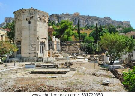 torre · Atenas · mármore · azul · viajar · arquitetura - foto stock © borisb17