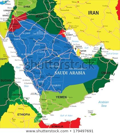 地図 · サウジアラビア · 政治的 · いくつかの · 抽象的な · 地球 - ストックフォト © conceptcafe