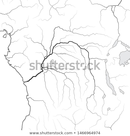 world map of the congo river basin central equatorial africa congo kongo zaire geographic chart stock photo © glasaigh