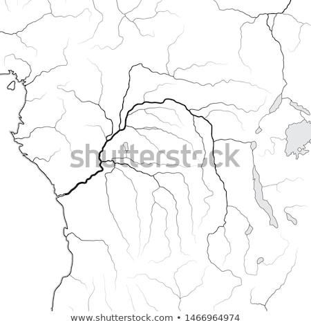 Dünya haritası Kongo nehir merkezi Afrika coğrafi Stok fotoğraf © Glasaigh