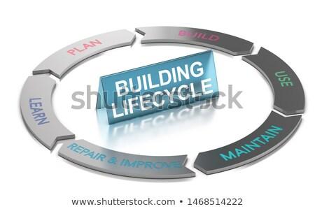 建物 ライフサイクル 管理 3次元の図 生活 サイクル ストックフォト © olivier_le_moal