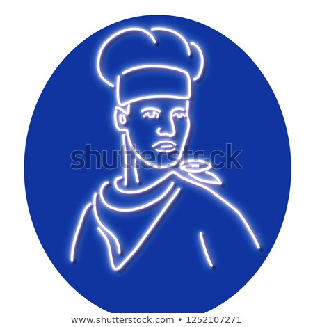 Chef Looking to Side Neon Sign Stock photo © patrimonio