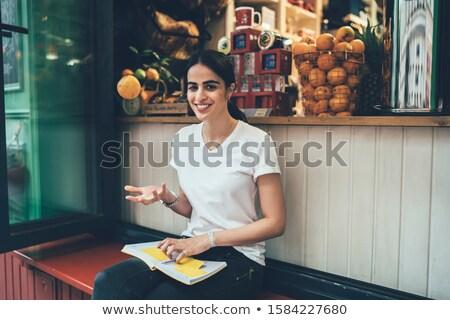 市場 服 女性 カフェ 屋台の食べ物 ストックフォト © robuart