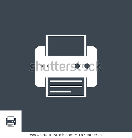 Imprimante vecteur icône isolé blanche papier Photo stock © smoki