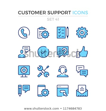 online services and technology color icons set stock photo © decorwithme