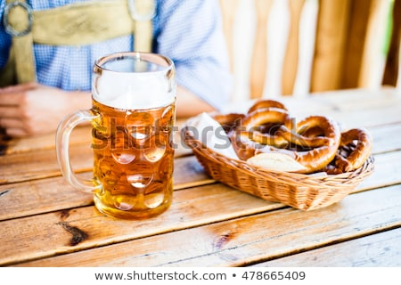 пива крендельки Октоберфест фон празднования Сток-фото © furmanphoto