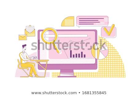 search engine marketing vector concept metaphors stock photo © rastudio