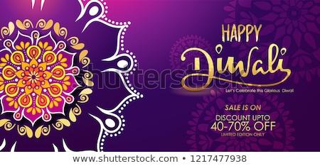 Gelukkig diwali verkoop banner roze kleur Stockfoto © SArts