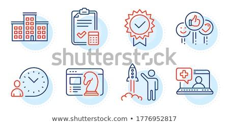 Time management dash line illustrations set Stock photo © barsrsind